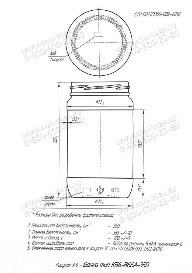 Стеклобанка КБ6-В66А-350 (п.40)