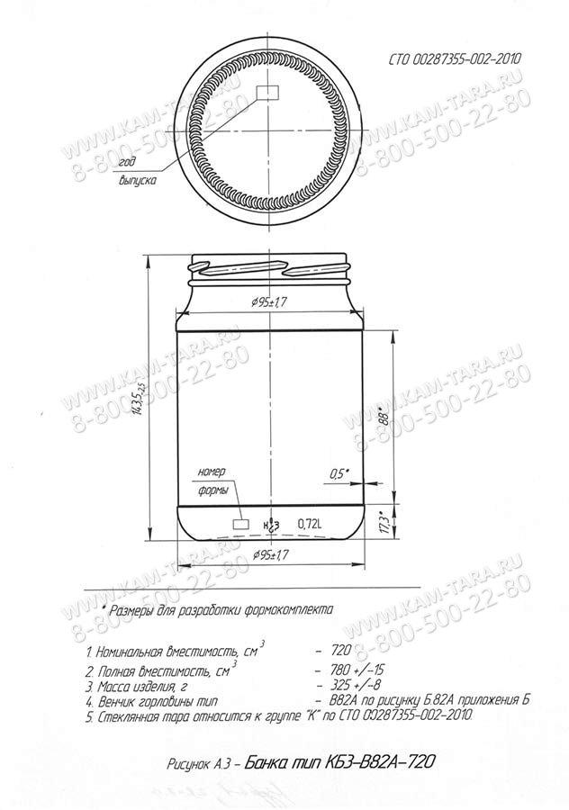 Стеклобанка КБ3-В82А-720 (пал.1568 Е)