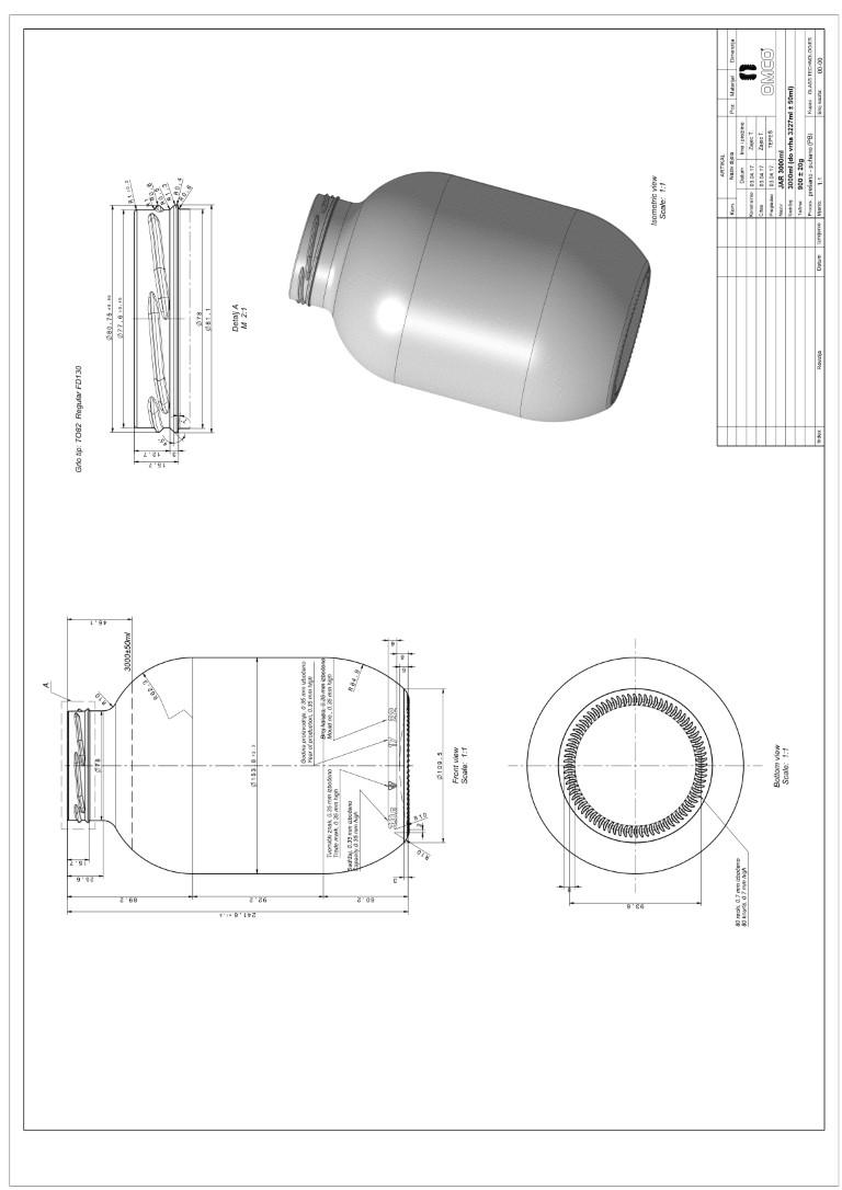 Стеклобанка 111-4-82-3000 (Ч) (пал.432)