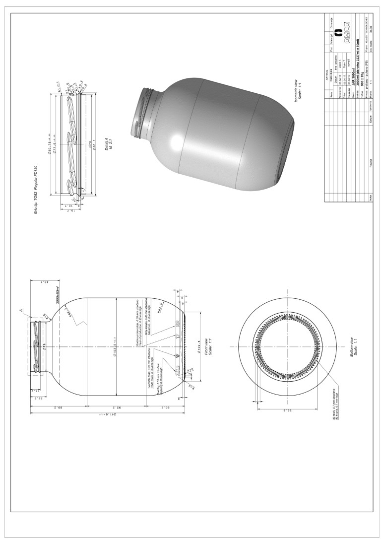 Стеклобанка 111-4-82-3000 (Ч) (Бп/п.432)